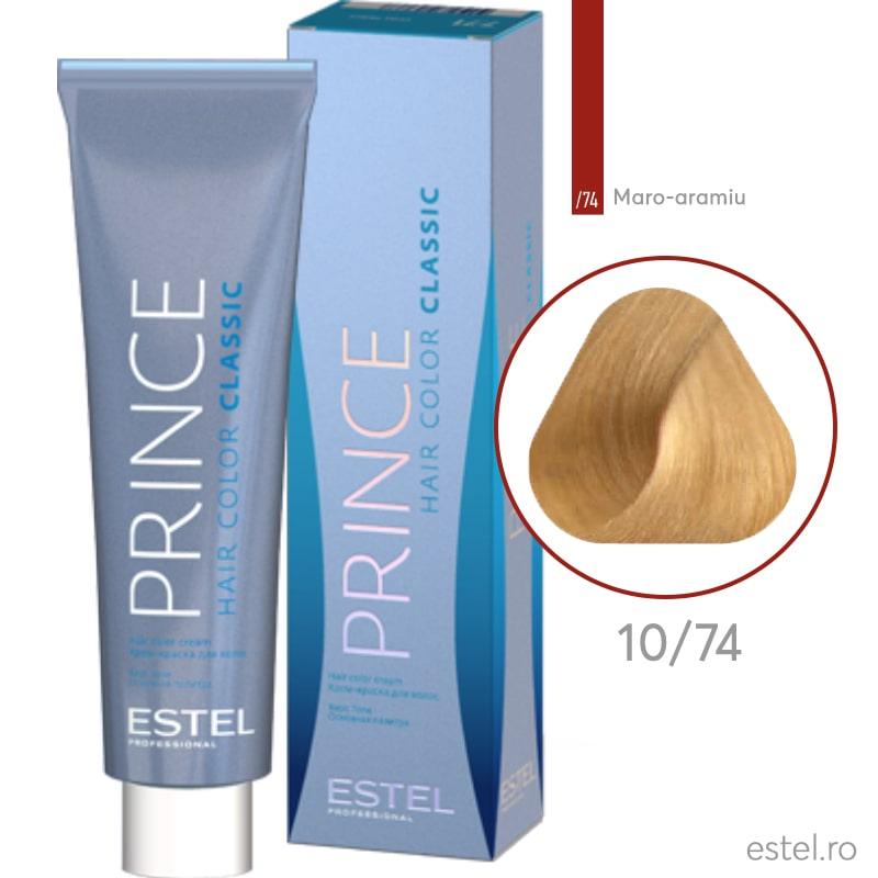 Prince Vopsea permanenta pentru par 10/74 Blond foarte deschis maro-aramiu 100 ml