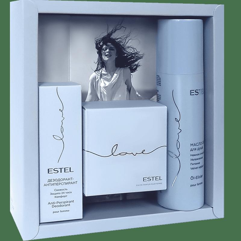 LOVE Colectie de parfumuri (deodorant 50 ml, apa de parfum 50 ml, ulei de dus 200 ml)
