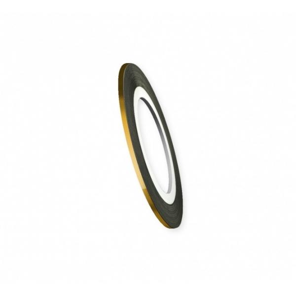 "Modele pentru unghii ""Didier Lab"", 2mm, golden/Nail art tape ""Didier Lab"", 2mm, golden"