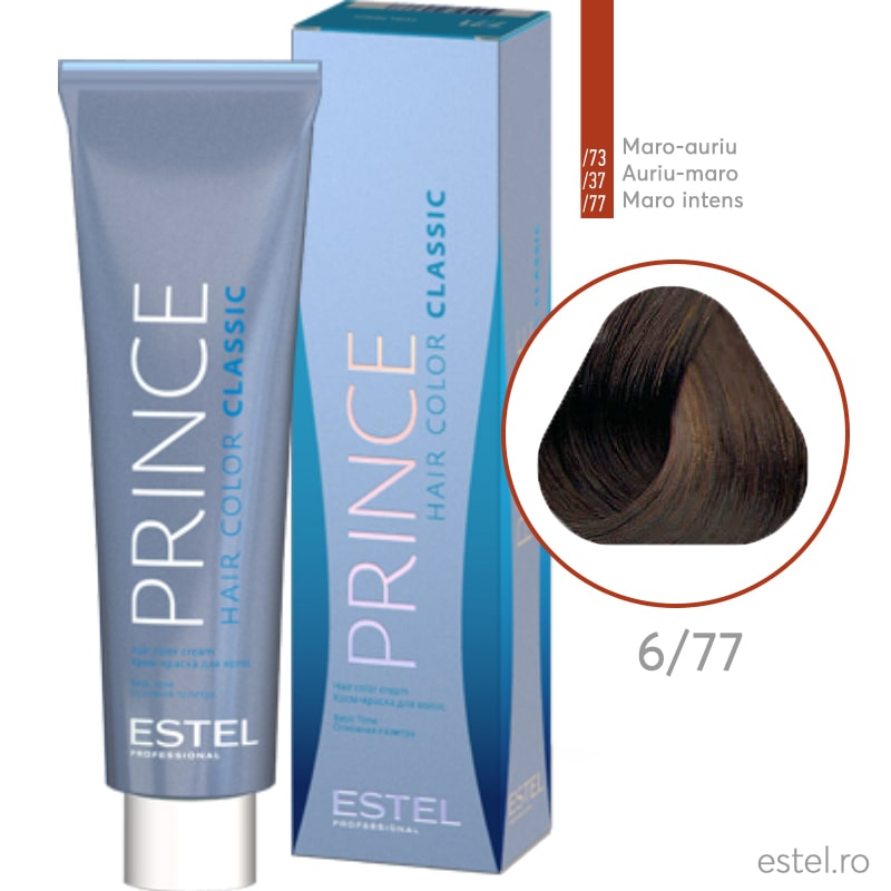 Prince Vopsea permanenta pentru par 6/77 Blond inchis maro intens 100 ml