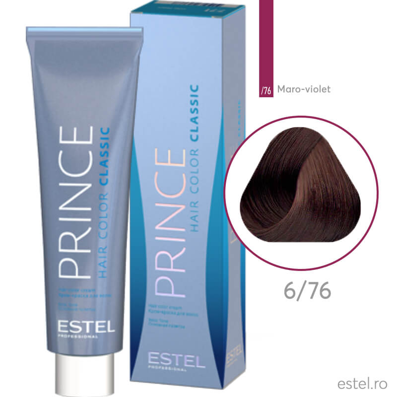 Prince Vopsea permanenta pentru par 6/76 Blond inchis maro-violet 100 ml