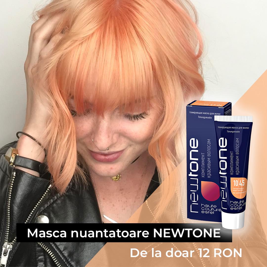 Masca nuantatoare  pentru păr Haute Couture NewTone 10/45 Blond deschis aramiu-rosu 30 ml