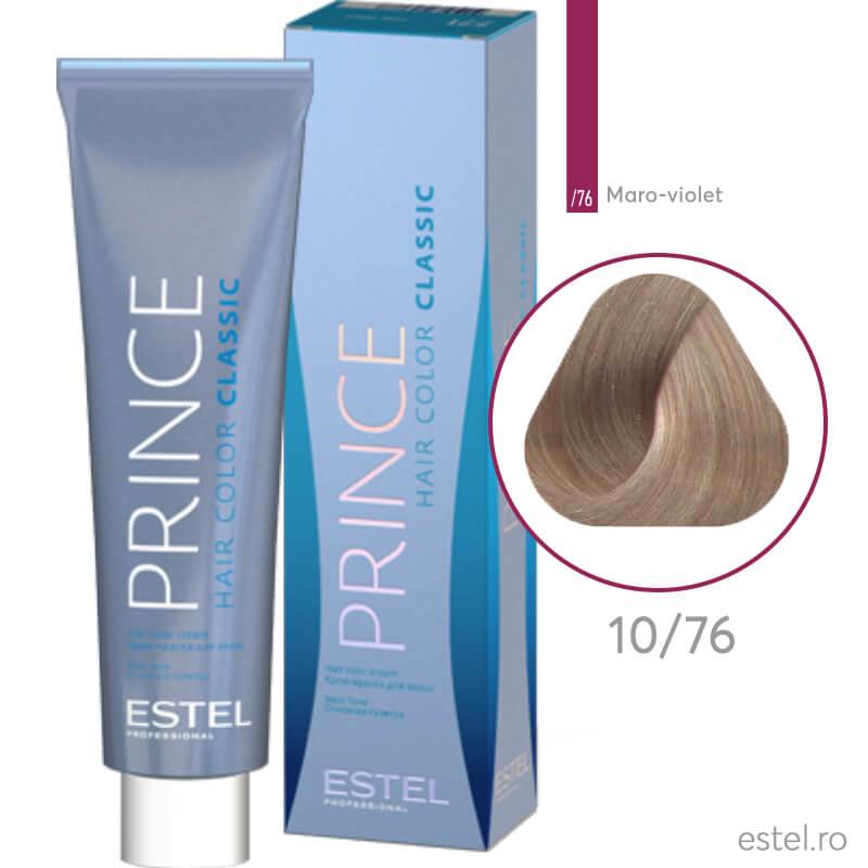 Prince Vopsea permanenta pentru par 10/76 Blond foarte deschis maro-violet 100 ml