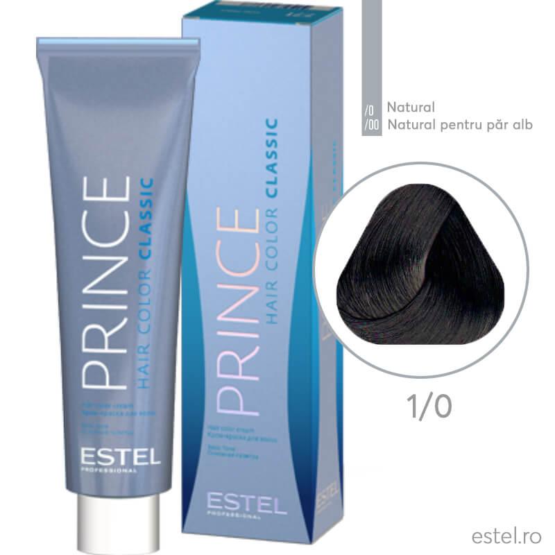 Prince Vopsea permanenta pentru par 1/0 Negru 100 ml