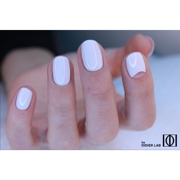 Gel lac semipermanent pentru unghii Didier Lab Studios - blanc/Gel polish Studios blanc, 8ml