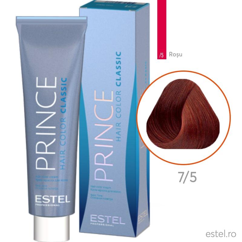 Prince Vopsea permanenta pentru par 7/5 Blond mediu rosu 100 ml