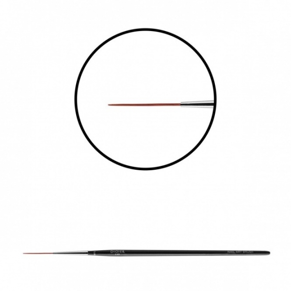 "Pensula pentru unghii ""Didier Lab"", No2, 1 buc/Nail art brush ""Didier Lab"",No2(wine red toray)"
