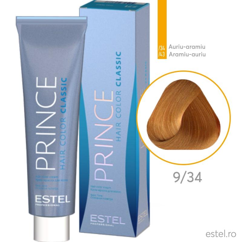 Prince Vopsea permanenta pentru par 9/34 Blond auriu-aramiu 100 ml