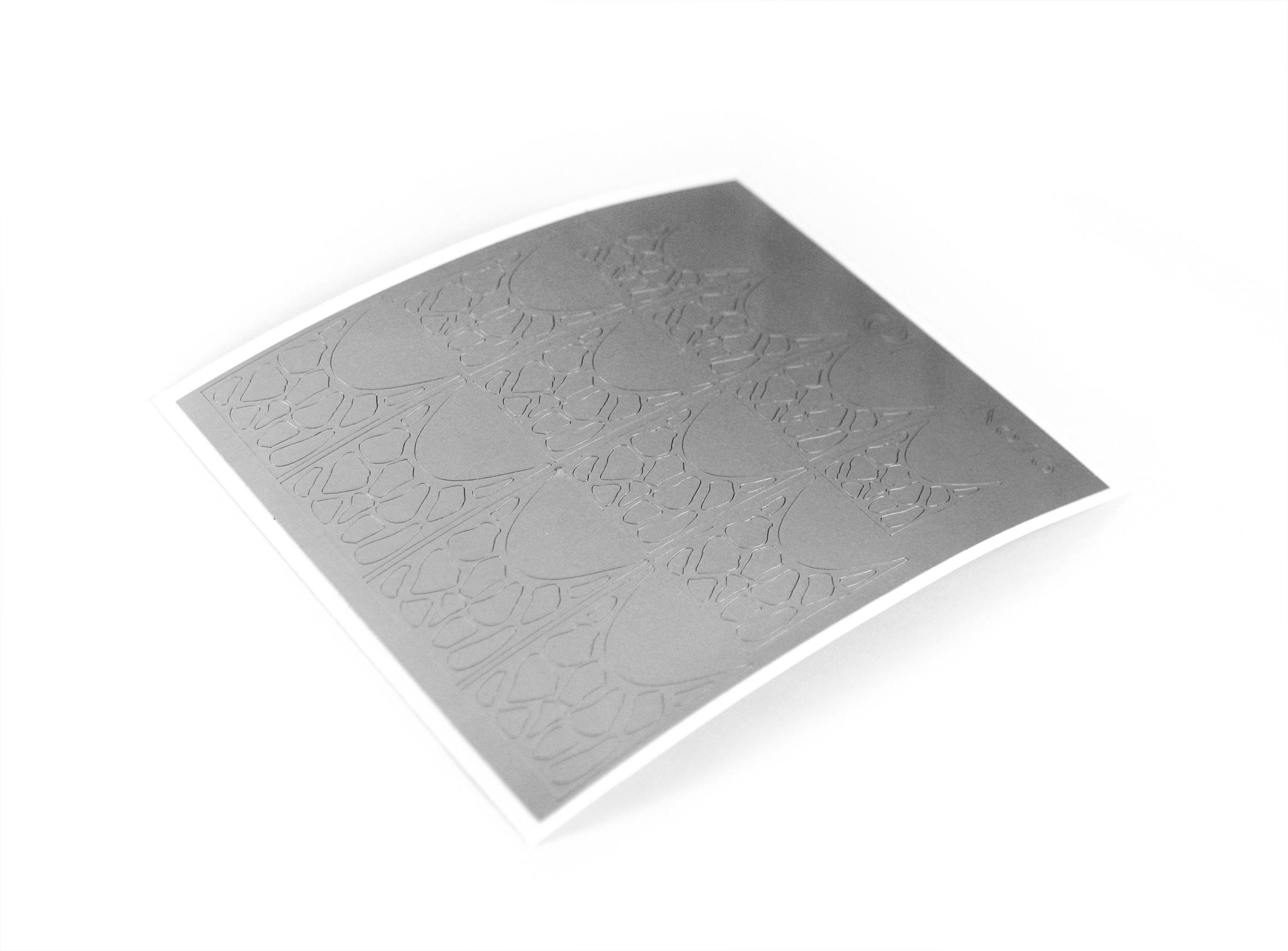 "Stiker pentru unghii ""Didier Lab"" , Nr16, asilver/Nail art sticker ""Didier lab"", No16, silver"