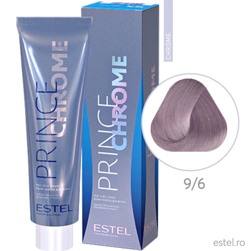Prince Chrome Vopsea crema pt par 9/6 blond violet 100ml