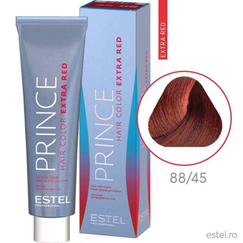 Prince Extra Red Vopsea permanenta pentru par 88/45 Castaniu deschis aramiu-rosu 100 ml