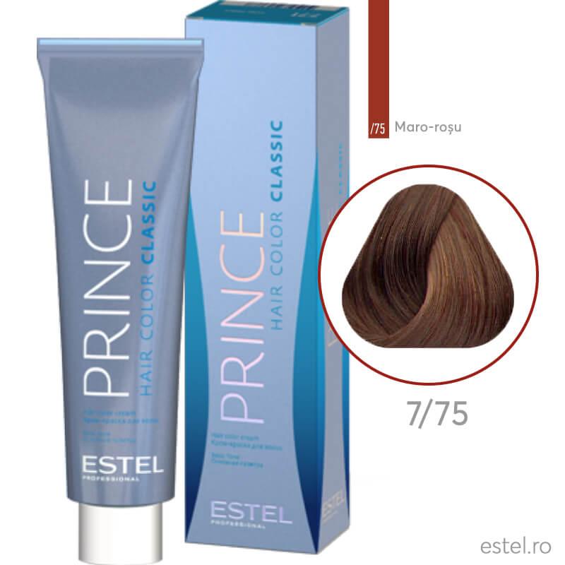 Prince Vopsea permanenta pentru par 7/75 Blond mediu maro-rosu 100 ml