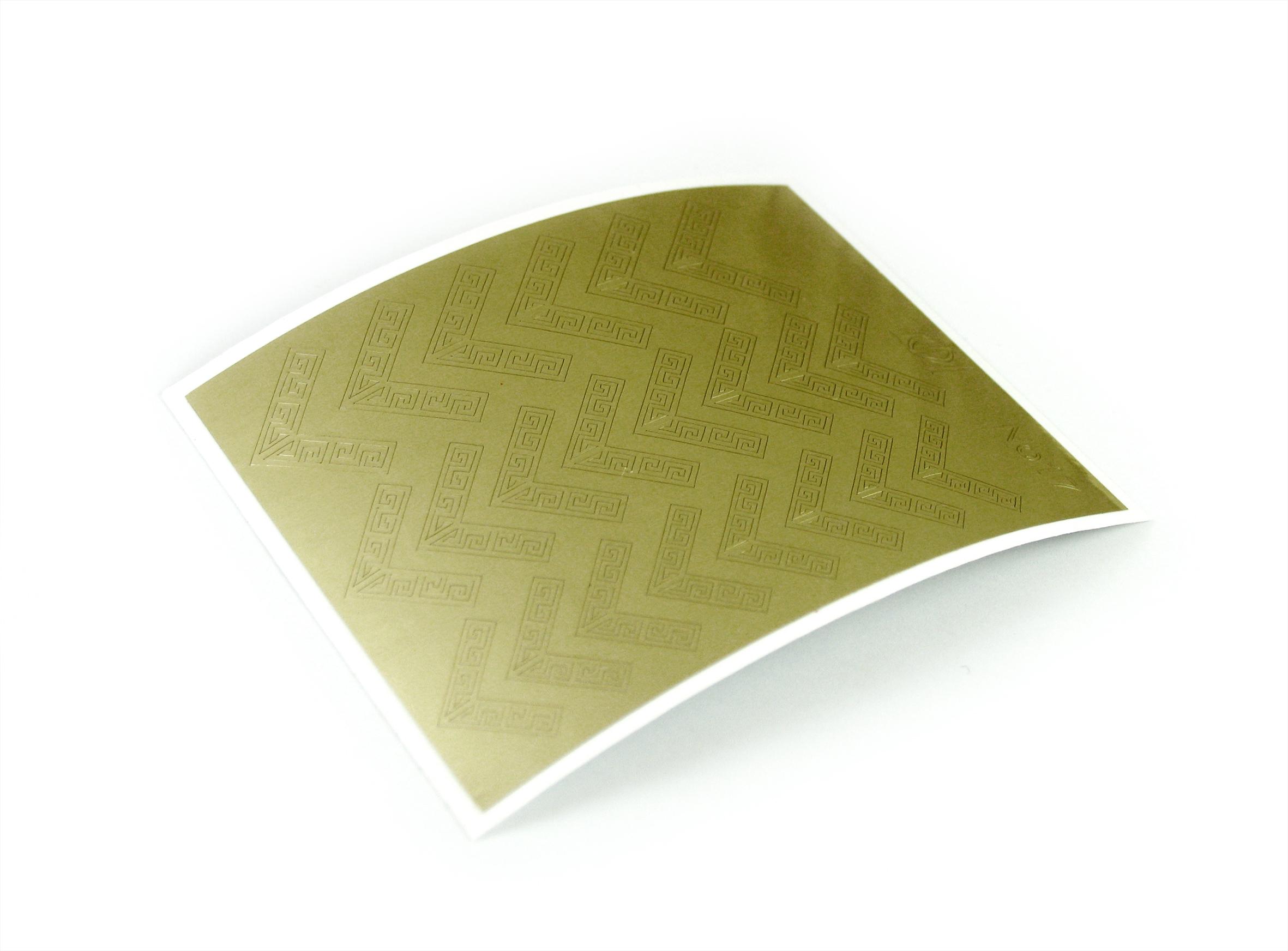 "Stiker pentru unghii ""Didier Lab"", Nr17, gold/Nail art sticker ""Didier lab"", No17,gold"