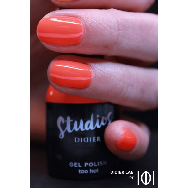 Gel lac semipermanent pentru unghii Didier Lab Studios - Too hot/Gel Polish Studios - Too hot , 8 ml