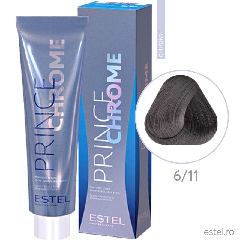 Prince Chrome Vopsea crema pt par 6/11 blond inchis gri intens 100m