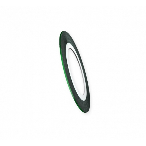 "Modele pentru unghii ""Didier Lab"", 0.8mm, green/Nail art tape ""Didier Lab"", 0.8mm, green"