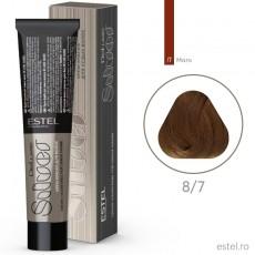 Vopsea permanenta de par De Luxe SILVER 8/7 Blond deschis maro 60 ml