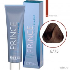 Prince Vopsea permanenta pentru par 6/75 Blond inchis maro-rosu 100 ml
