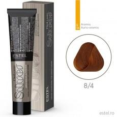 Vopsea permanenta de par De Luxe SILVER 8/4 Blond deschis aramiu 60 ml
