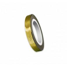 """Modele val pentru unghii """"Didier Lab"""", 6mm, golden/Nail art wave tape """"Didier Lab"""", 6mm, golden"""