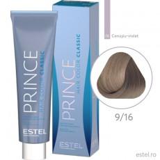 Prince Vopsea permanenta pentru par 9/16 Blond cenusiu-violet 100 ml
