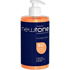 Masca nuantatoare  pentru păr Haute Couture NewTone 10/45 Blond deschis aramiu-rosu 435 ml