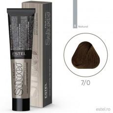 Vopsea permanenta de par De Luxe SILVER 7/0 Blond mediu 60 ml