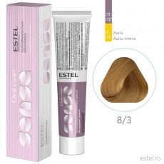 Vopsea semipermanenta de par De Luxe Sense 8/3 Blond deschis auriu 60 ml