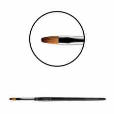 "Pensula pentru gel ""Didier Lab"",No6,oval (fire maro), 1buc/Gel brush, No6, ovalas(tiger toray)"
