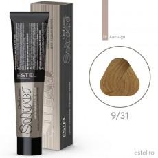 Vopsea permanenta de par De Luxe SILVER  9/31 Blond auriu-cenusiu 60 ml