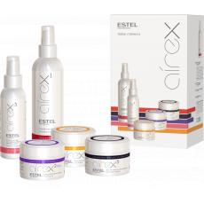 Set pentru styling par AIREX 5 produse (protectie termica, argila, ceara, elastic gel, spray pt volum la radacina)