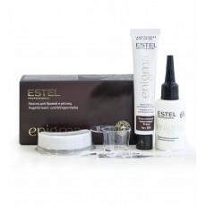 ENIGMA Vopsea pentru sprancene si gene - Maro clasic, 20*20 ml