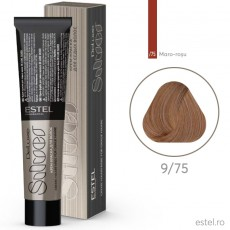 Vopsea permanenta de par De Luxe SILVER 9/75 Blond maro-rosu 60 ml