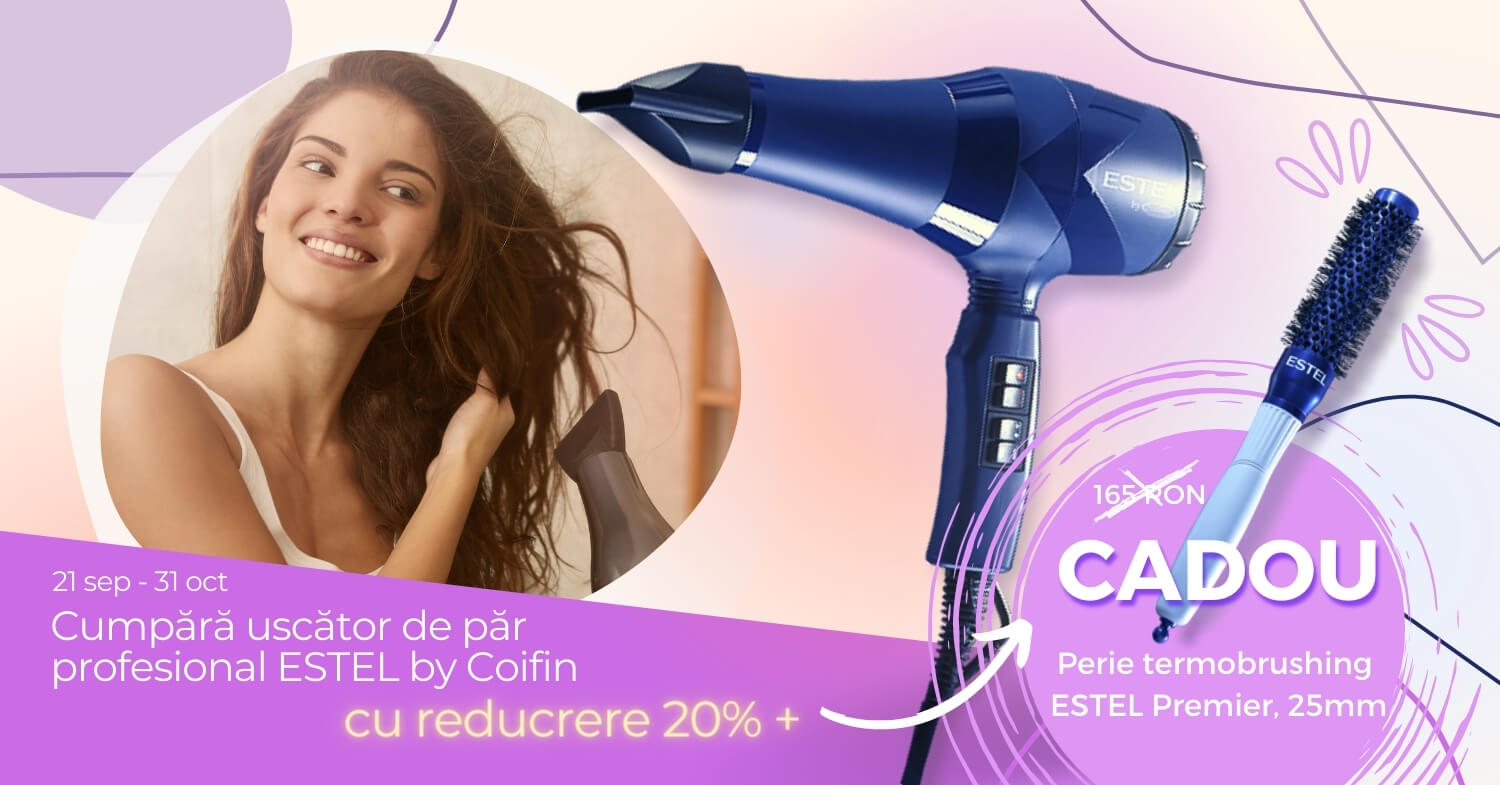 Uscator de par profesional ESTEL by Coifin - Reducere 20% si Cadou Perie Termobrushing
