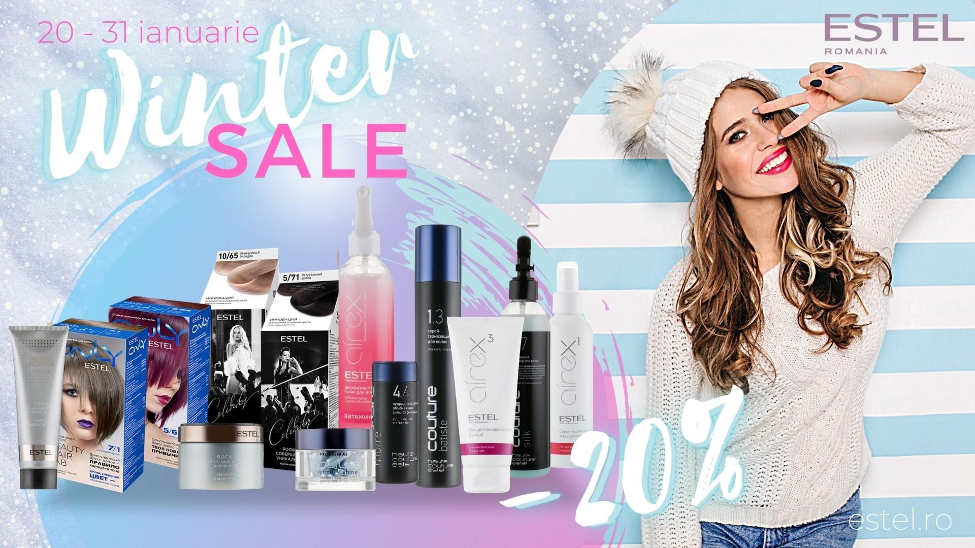 Winter Sale ESTEL - prinde 20 la suta reducere la produse alese in ianuarie 2021!