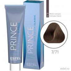Prince Vopsea permanenta pentru par 7/71 Blond mediu maro-cenusiu 100 ml