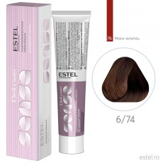 Vopsea semipermanenta de par De Luxe Sense 6/74 Blond inchis maro-aramiu 60 ml