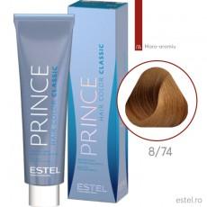Prince Vopsea permanenta pentru par 8/74 Blond deschis maro-aramiu 100 ml