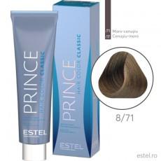 Prince Vopsea permanenta pentru par 8/71 Blond deschis maro-cenusiu 100 ml
