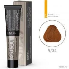 Vopsea permanenta de par De Luxe SILVER 9/34 Blond auriu-aramiu 60 ml