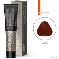 Vopsea permanenta de par De Luxe SILVER 7/45 Blond mediu aramiu-rosu 60 ml