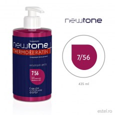 Masca nuantatoare  pentru păr Haute Couture NewTone 7/56 Blond rosu violet 435 ml