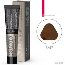 Vopsea permanenta de par De Luxe SILVER 8/47 Blond deschis aramiu-maro 60 ml