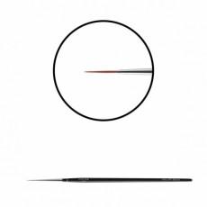 "Pensula pentru unghii ""Didier Lab"",No5,(fire rosii inchis),1buc/Nail art brush No5(wine red toray)"