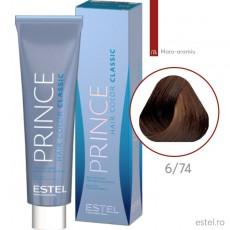 Prince Vopsea permanenta pentru par 6/74 Blond inchis maro-aramiu 100 ml