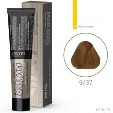 Vopsea permanenta de par De Luxe SILVER 9/37 Blond auriu-maro 60 ml