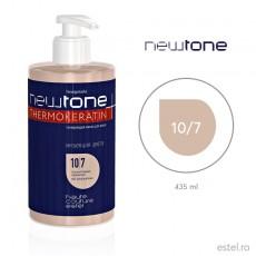 Masca nuantatoare  pentru păr Haute Couture NewTone 10/7 Blond deschis maro 435 ml
