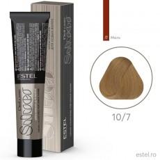 Vopsea permanenta de par De Luxe SILVER 10/7 Blond foarte deschis maro  60 ml