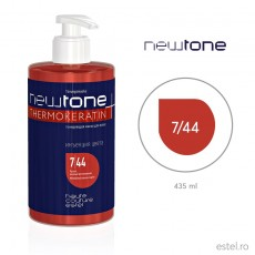 Masca nuantatoare  pentru păr Haute Couture NewTone 7/44 Blond aramiu intens 435 ml